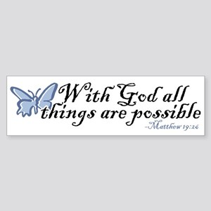 Matthew 19:26 Sticker (Bumper)