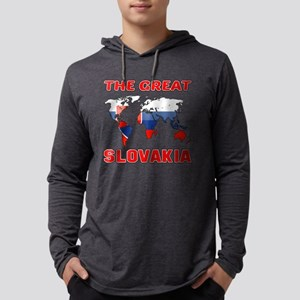 The Great Slovakia Designs Mens Hooded Shirt
