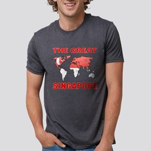 The Great Singapore Designs Mens Tri-blend T-Shirt