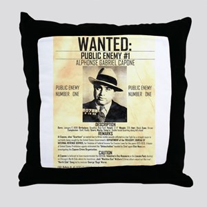Wanted Al Capone Throw Pillow