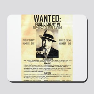 Wanted Al Capone Mousepad