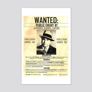 Wanted Al Capone Mini Poster Print