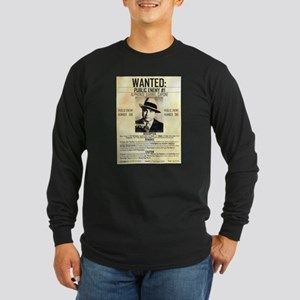 Wanted Al Capone Long Sleeve Dark T-Shirt