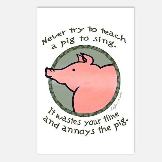 Singing Pig Postcards (Package of 8)