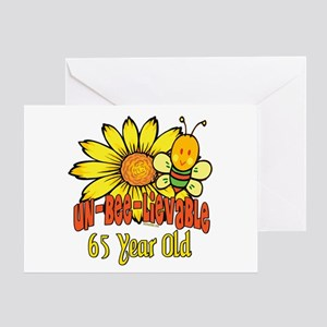 unbelievable 65th birthday Greeting Card
