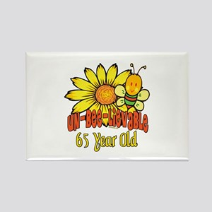 unbelievable 65th birthday Rectangle Magnet