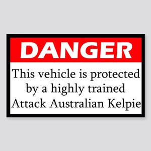Attack Australian Kelpie Sticker