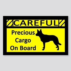 Precious Cargo Australian Kelpie Sticker (Rectang)