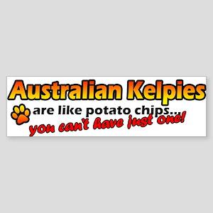 Potato Chips Australian Kelpie Bumper Sticker