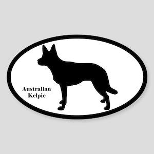 Australian Kelpie Silhouette Sticker
