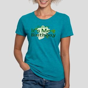 Kiss Me Irish Birthday Womens Tri-Blend T-Shirt
