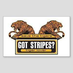 Got Stripes Tiger Rectangle Sticker