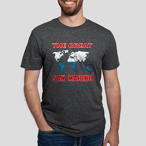 The Great San Marino Design Mens Tri-blend T-Shirt