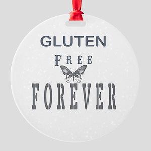 Gluten Free Forever Round Ornament