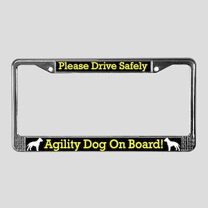 Staffordshire Agility Dog License Plate Frame