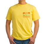 Pat McGroin Name tag Yellow T-Shirt