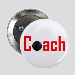 "Bowling Coach Red 2.25"" Button"