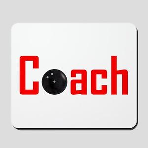Bowling Coach Red Mousepad