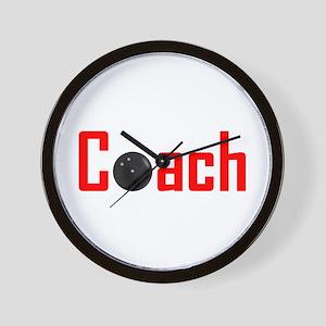Bowling Coach Red Wall Clock