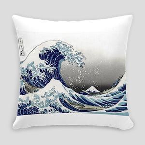 great wave of Kanagawa by hokusai Everyday Pillow