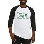 Green Beer Makes me Shit Baseball Jersey