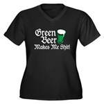 Green Beer Makes me Shit Women's Plus Size V-Neck