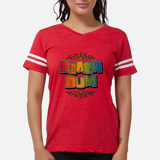 Beach Bum Retro Rainbow Mens T-Shirt