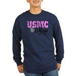 USMC Mom of two Long Sleeve Dark T-Shirt