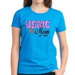 USMC Mom of two Women's Dark T-Shirt