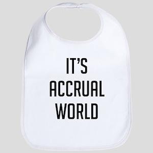 It's Accrual World Baby Bib