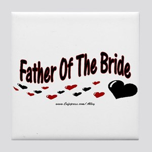 Father Of The Bride (hearts) Tile Coaster