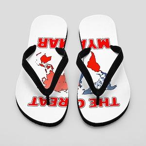 The Great Myanmar Designs Flip Flops