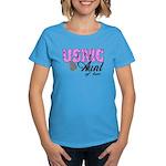 USMC Aunt of two Women's Dark T-Shirt