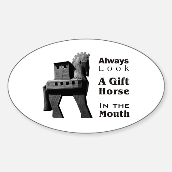 Trojan Horse Oval Decal