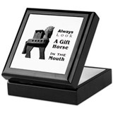 Trojan horse Square Keepsake Boxes