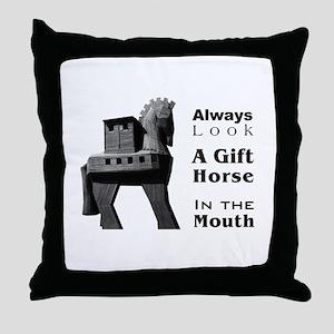 Trojan Horse Throw Pillow