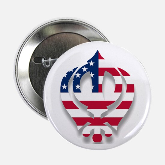 "American Khanda 2.25"" Button"
