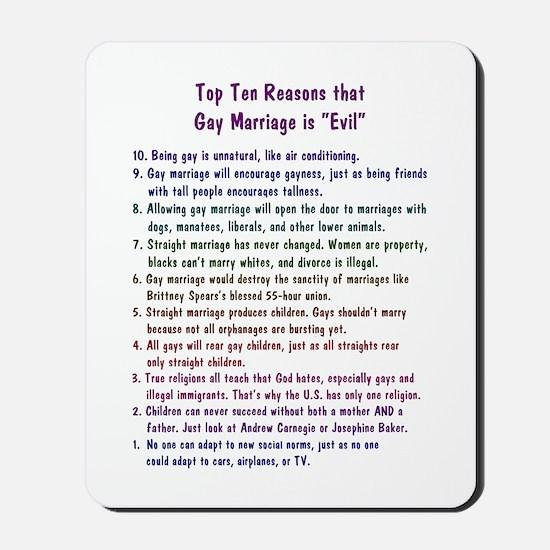 Gay Marriage 10 Mousepad