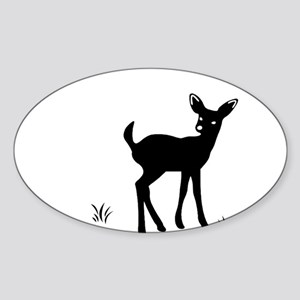 Deer Oval Sticker