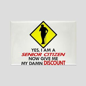 Senior Give Me My Damn Discount Rectangle Magnet