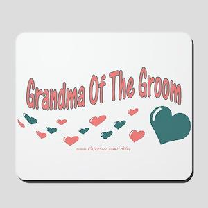 Grandma Of The Groom (hearts) Mousepad