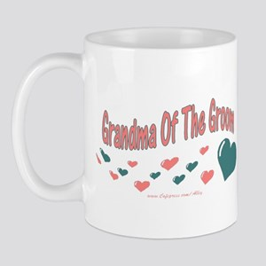Grandma Of The Groom (hearts) Mug