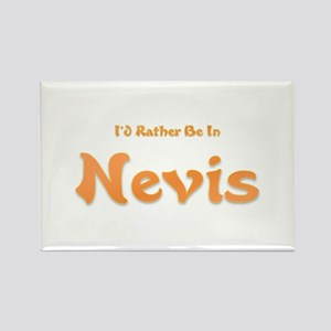 I'd Rather Be...Nevis Rectangle Magnet