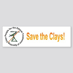 Save the Clays Bumper Sticker