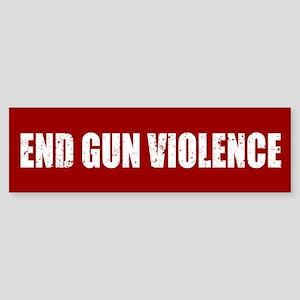 End Gun Violence Bumper Sticker