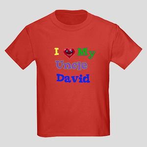 I LOVE MY UNCLE DAVID Kids Dark T-Shirt