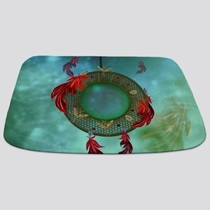 Wonderful dreamcatcher with feathers Bathmat