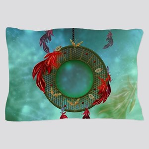 Wonderful dreamcatcher with feathers Pillow Case