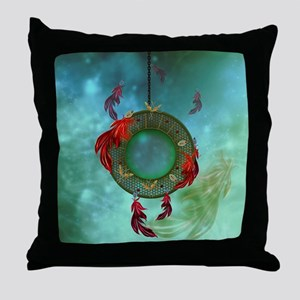 Wonderful dreamcatcher with feathers Throw Pillow