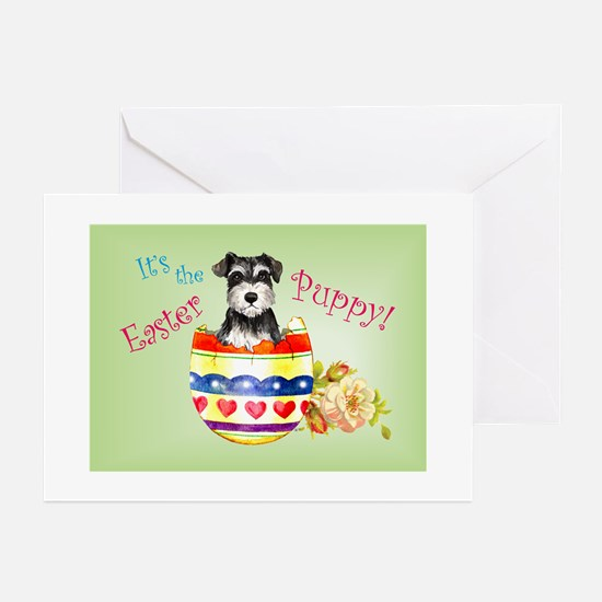 Easter Miniature Schnauzer Greeting Cards